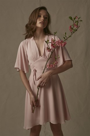 Daisy Dress in Nude Pink